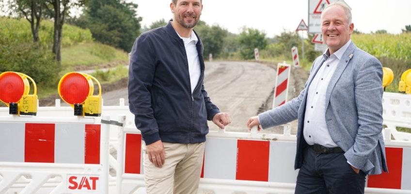 Es geht voran – L96 wird saniert – Erneuerung von Fahrbahn und Radweg zwischen Handewitt und Hüllerup